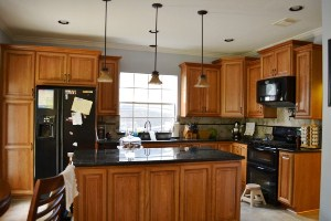 Natural Cherry Custom Cabinets